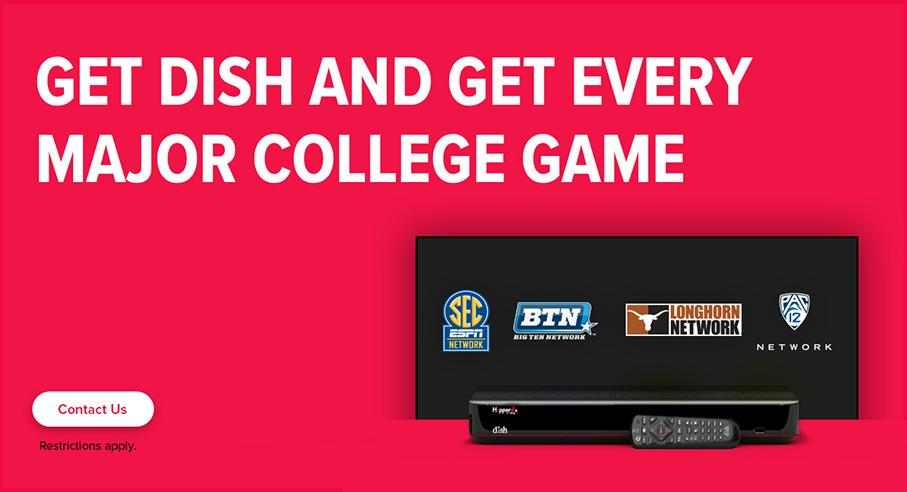 Sports TV Package - College Sports - Redding, California - B&T Satellite - DISH Authorized Retailer